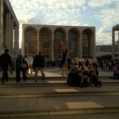 Photo taken at Lincoln Center Plaza (Josie Robertson Plaza) by Junmo Y. on 6/7/2012