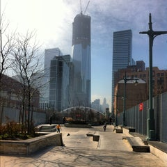 Photo taken at Tribeca Skate Park by HOMAGE B. on 3/20/2012