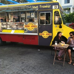 Photo taken at India Jones Chow Truck by Bekah A. on 6/20/2012