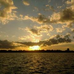 Photo taken at Lake Calhoun by Ryan H. on 7/9/2011