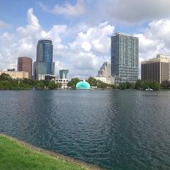 Photo taken at Lake Eola Park by Edward A. on 6/15/2012