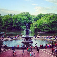 Photo taken at Bethesda Fountain by Jonathan M. on 5/13/2012