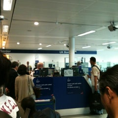 Photo taken at Security/Passport Control - T1 by Jung Wook S. on 6/21/2012