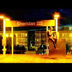 Photo taken at CTA - Sheridan by Brandon T. on 6/17/2012