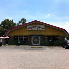 Photo taken at Flaming Amy's Burrito Barn by Katie K. on 6/9/2012