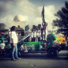 Photo taken at Mazar-e-Quaid by Omair M. on 8/14/2012