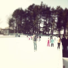 Photo taken at larz anderson skating rink by Steve G. on 2/18/2012