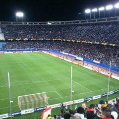 Photo taken at Estadio Vicente Calderón by Carlos C. on 4/19/2012