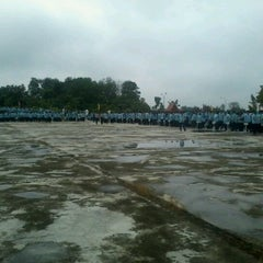 Photo taken at Lapangan Upacara Kantor Bupati by Tengku U. on 4/17/2012