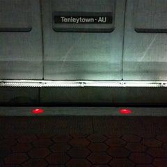 Photo taken at Tenleytown-AU Metro Station by Poy A. on 12/8/2011