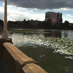Photo taken at Lake Mirror by Michael V. on 10/25/2011