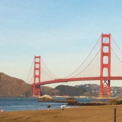 Photo taken at Baker Beach by Michelle F. on 12/23/2011