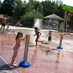 Photo taken at Greenwood St Sprinkler Park by Lisa S. on 7/16/2011