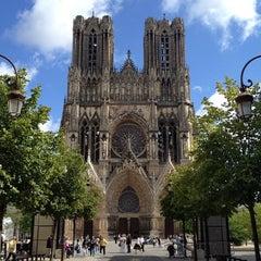 Photo taken at Cathédrale Notre-Dame de Reims by Timothy J. on 8/26/2012