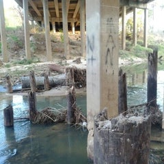 Photo taken at Stuebner-Airline Bridge Over Cypress Creek by Randy on 1/4/2012