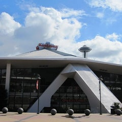 Photo taken at KeyArena at Seattle Center by Ronnie B. on 5/18/2012