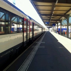Photo taken at Gare de Genève Cornavin by Marcelo Almeida on 7/17/2012