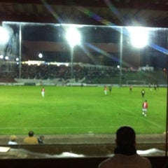 Photo taken at Estádio Vermelhão da Serra by Bruno V. on 4/29/2012