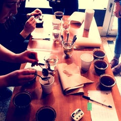 Photo taken at Pourquoi Pas Espresso Bar by Audrey M. on 1/22/2012