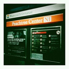 Photo taken at MARTA - Peachtree Center Station by Brandon L. on 5/8/2012