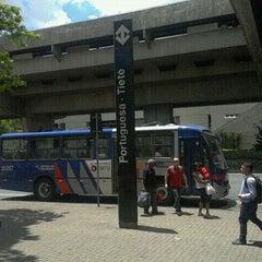 Photo taken at Estação Portuguesa-Tietê (Metrô) by Ph F. on 10/25/2011