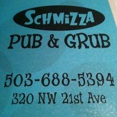 Photo taken at Schmizza Pub & Grub on 21st by Justen M. on 12/21/2011