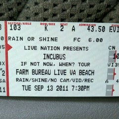 Photo taken at Virginia Beach Amphitheater by Christy A. on 9/13/2011