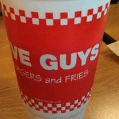 Photo taken at Five Guys by David M. on 9/25/2011