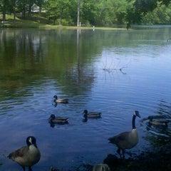 Photo taken at Meshanticut Park by Lauren M. on 5/29/2011