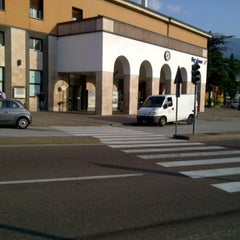Photo taken at Stazione di Rovereto by Fabrizio D. on 6/28/2012
