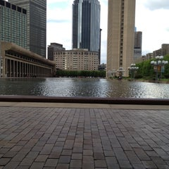 Photo taken at Christian Science Reflecting Pool by Mae S. on 5/10/2012