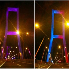Photo taken at Jembatan Suramadu (Suramadu Bridge) by Fenny F. on 8/20/2012