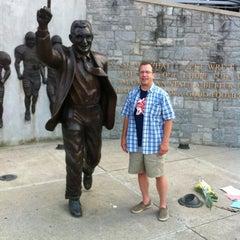 Photo taken at Joe Paterno Statue by John F. on 7/17/2012