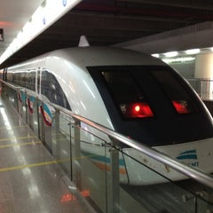 Photo taken at 磁悬浮龙阳路站 Maglev Train Longyang Road Station by Yangzhi Z. on 7/22/2012