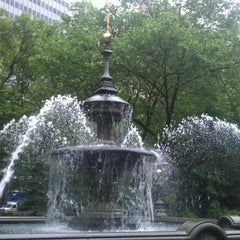 Photo taken at City Hall Park by Claribel P. on 5/22/2012