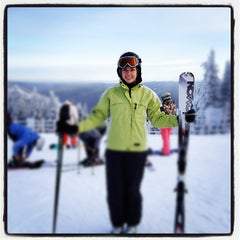 Photo taken at Sommet du Mont-Tremblant Summit by Brian R. on 1/28/2012
