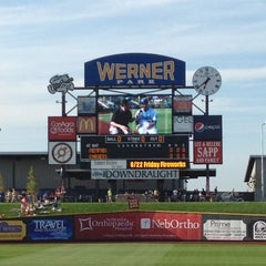 Photo taken at Werner Park by Kiran H. on 6/22/2012