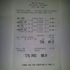 Photo taken at Kohl's by Jenn T. on 4/8/2012