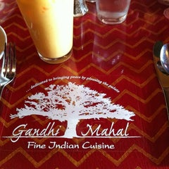 Photo taken at Gandhi Mahal by Shanna C. on 9/8/2012