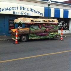 Photo taken at Westport Flea Market Bar & Grill by Alice B. on 4/30/2012