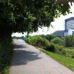 Photo taken at Discovery Walk DVP Footbridge by Andy H. on 8/5/2012
