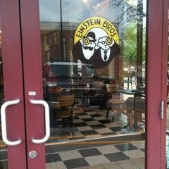Photo taken at Einstein Bros Bagels by Armando V. on 3/18/2012