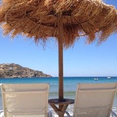 Photo taken at Παραλία Κινίου (Kini Beach) by Eirina G. on 6/30/2012