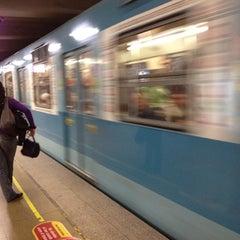 Photo taken at Metro Irarrázaval by Ismael P. on 7/28/2012