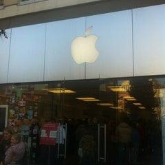 Photo taken at Apple Store, City Creek Center by Ingrid B. on 12/26/2011