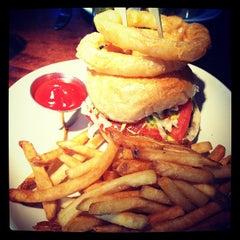 Photo taken at B & B Winepub (Burger & Barrel) by CJ B. on 4/13/2012