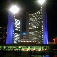 Photo taken at Nathan Phillips Square by Kevin K. on 5/12/2012