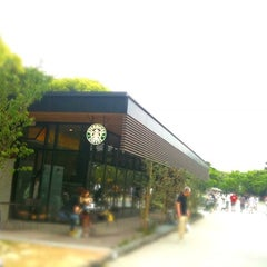 Photo taken at Starbucks Coffee 福岡大濠公園店 by Yuki S. on 2/6/2011