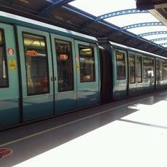 Photo taken at Metro San Joaquín by Daniel R. on 12/12/2011