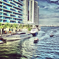 Photo taken at Brickell Ave Bridge by miamism on 1/28/2012